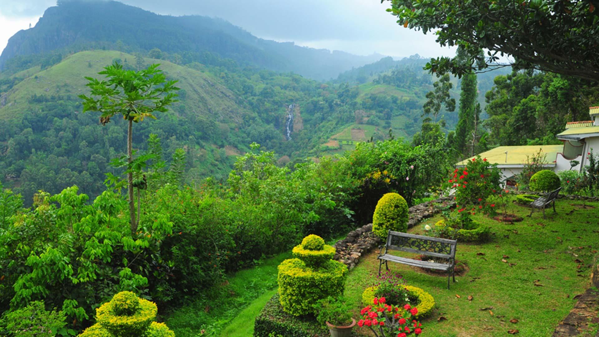 View from above Ella Gap, Sri Lanka