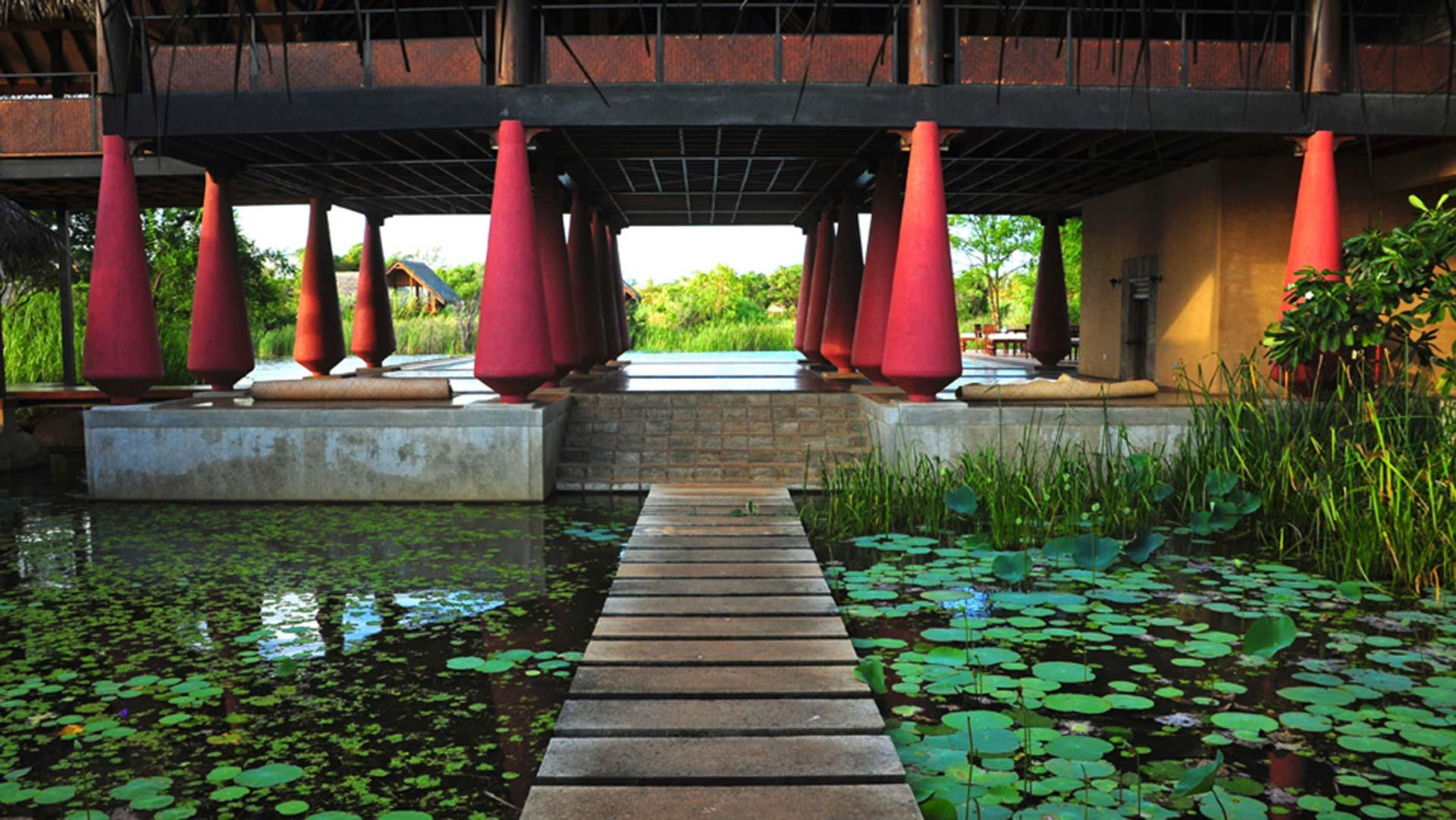 Lobby at Vil Uyana, Sri Lanka