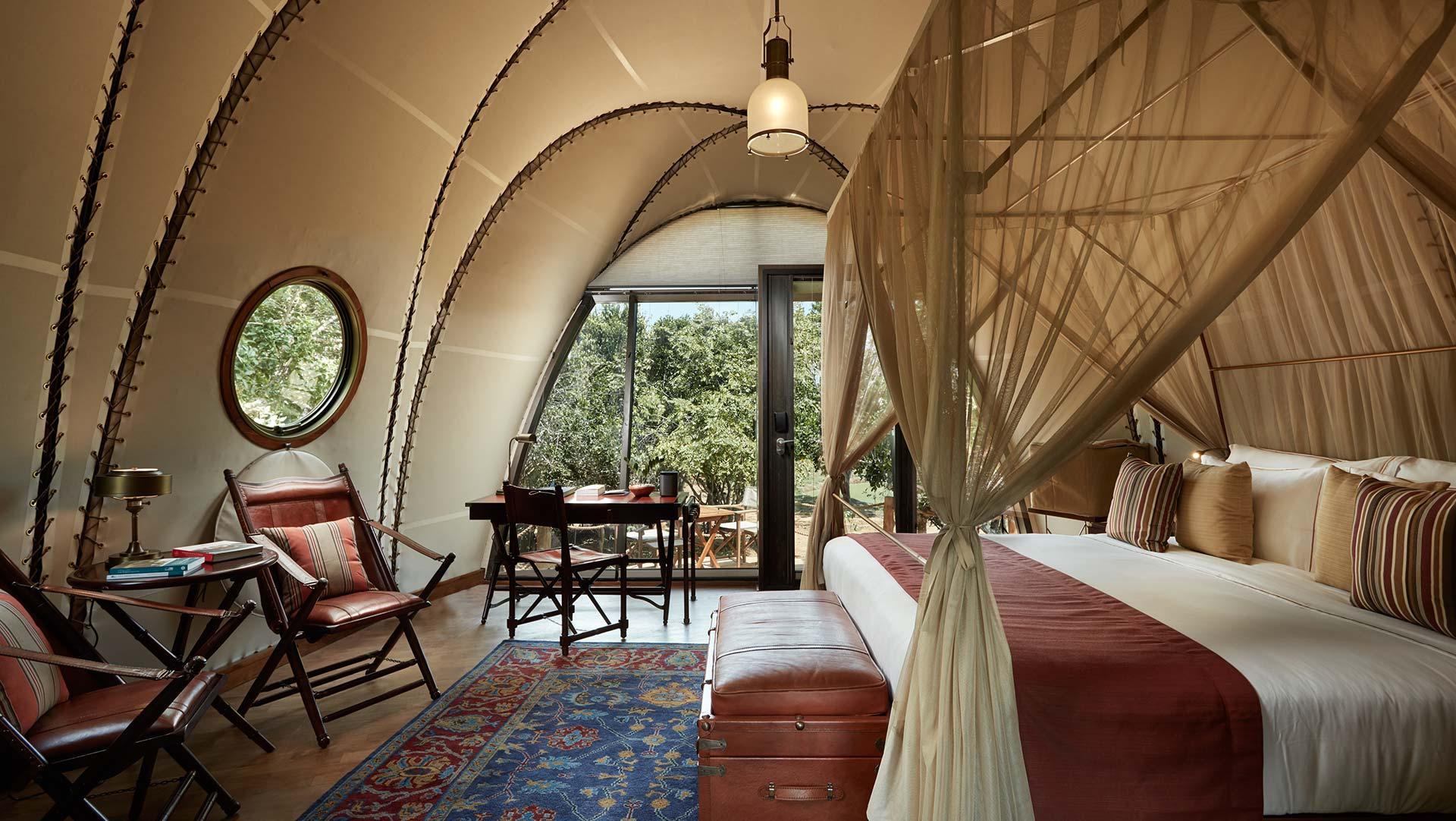 Luxury safari-style tents at Wild Coast Lodge, Sri Lanka