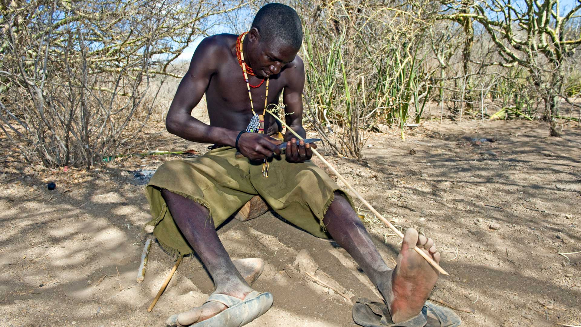 A member of the Hadza tribe, some of the last hunter-gatherers in Africa.