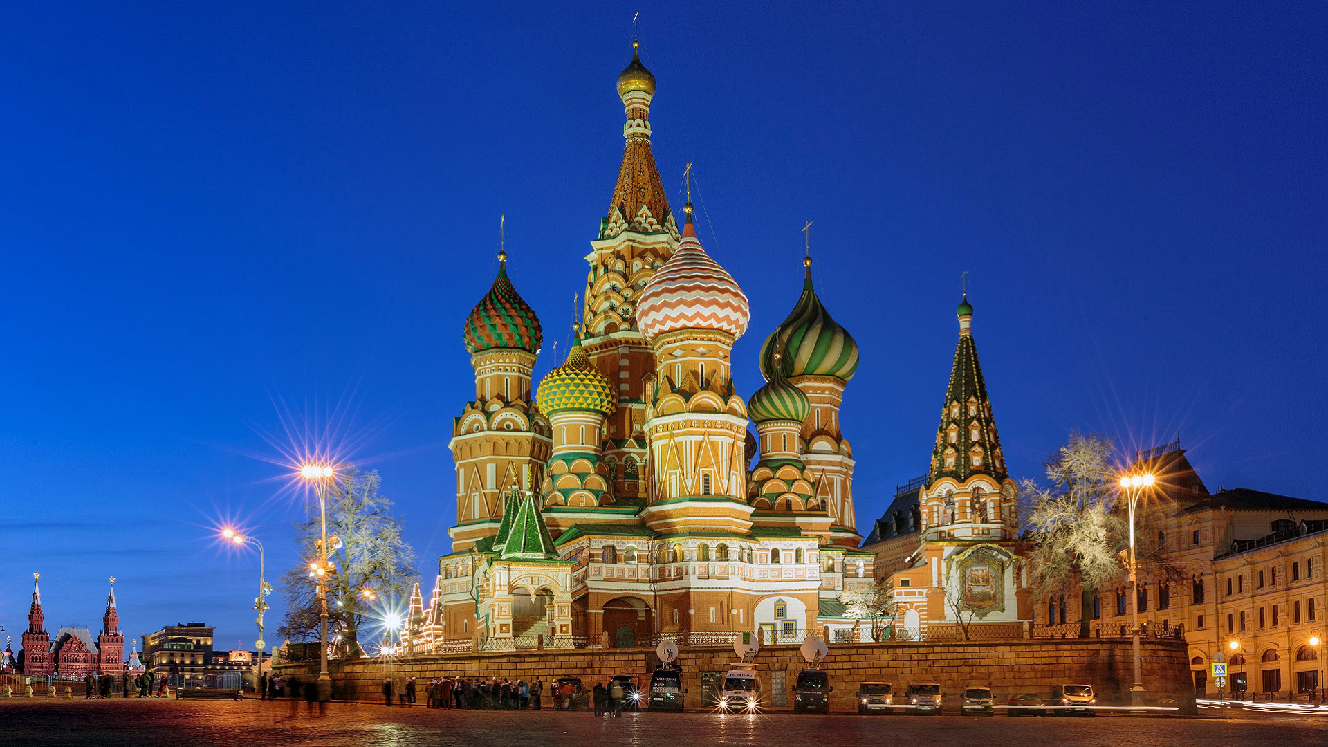 The Kremlin, St. Basil's Cathedral, and Red Square in Moscow, Russia with GeoEx