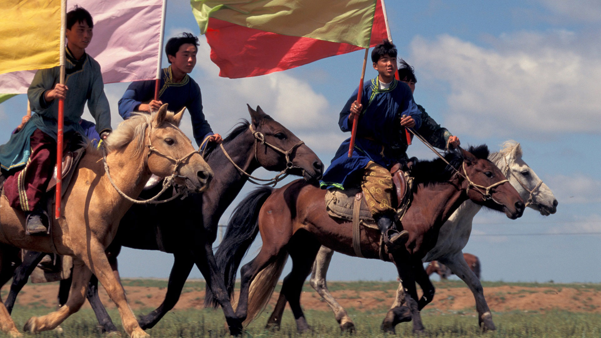 Horse racing during the Nadaam Festival, Mongolia with GeoEx