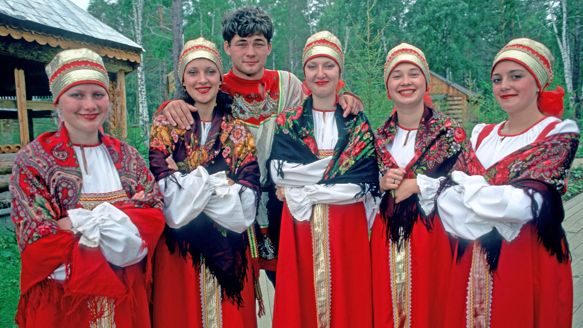 Traditional singers in costumes in Irkutsk, Russia, Trans-Siberian with GeoEx