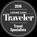 2016 Condé Nast Traveler Top Travel Specialists Award