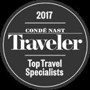 2017 Condé Nast Traveler Top Travel Specialists Award