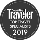 2019 Condé Nast Traveler Top Travel Specialists Award