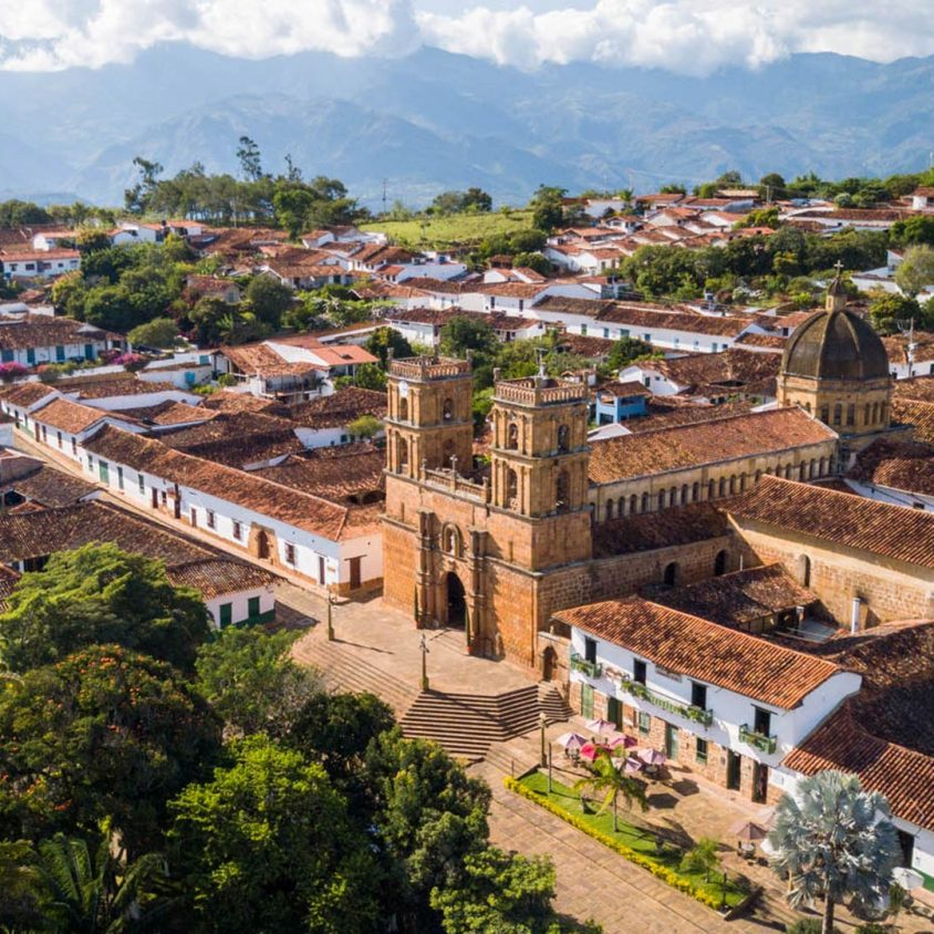 View over the colonial town of Barichara, Colombia