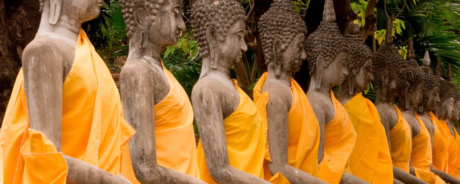 Buddhas at the site of Ayutthaya, Thailand