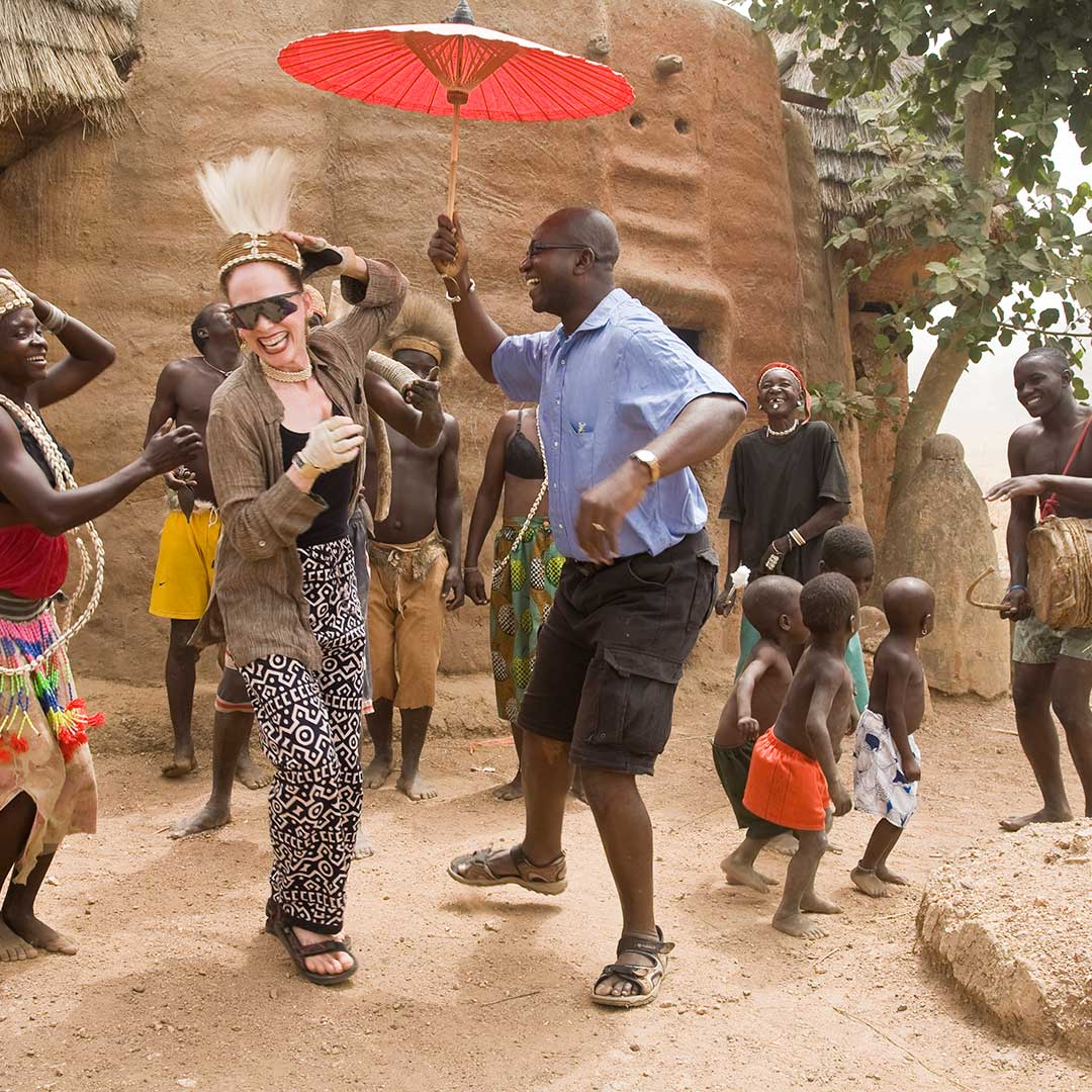 Dancing in West Africa