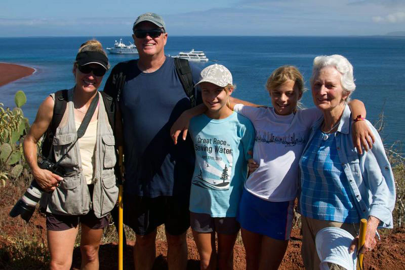 Mulitgenerational family trip to the Galapagos with GeoEx.