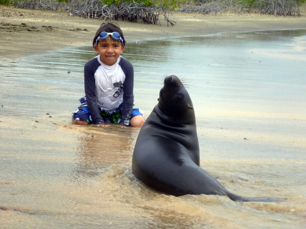 Galapagos family vacation with close-up animal encounters with GeoEx.