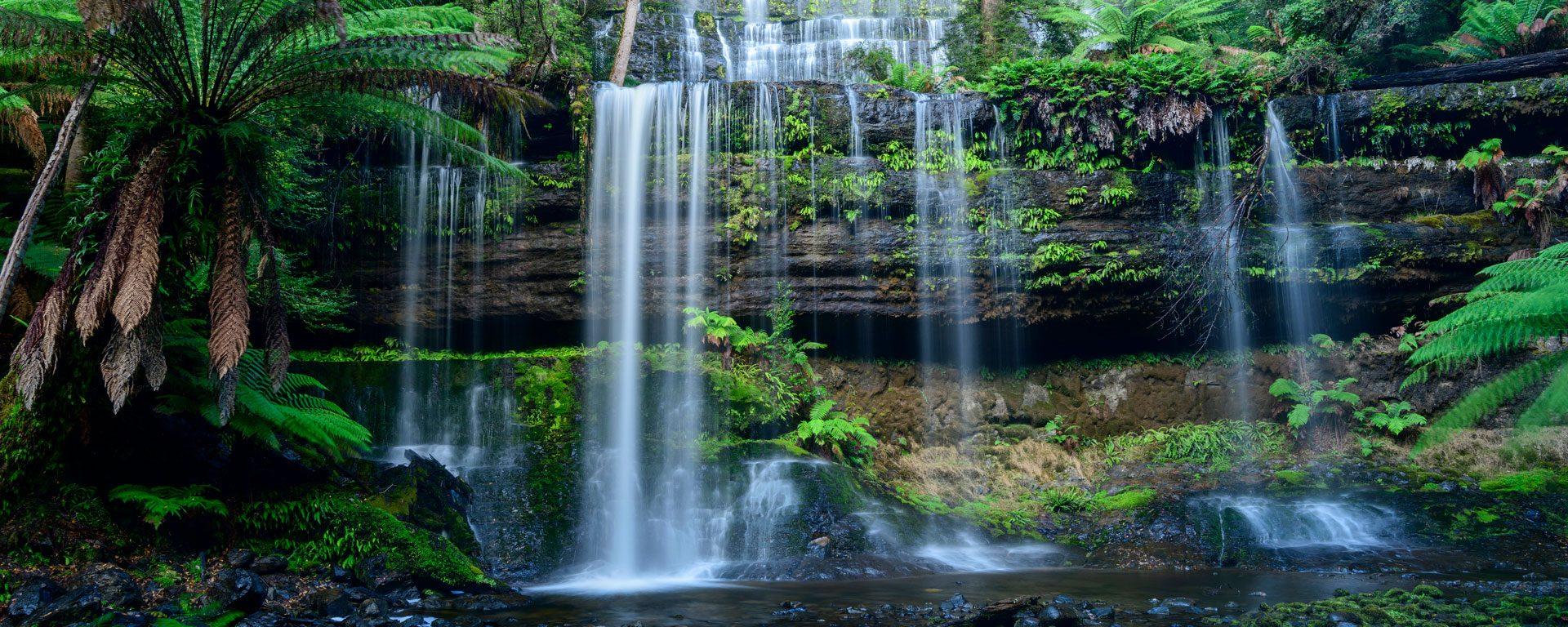 Russell Falls in Mount Field National Park, Australia