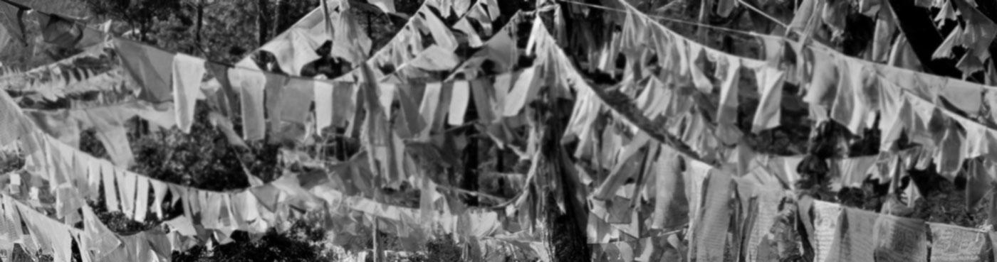 Prayer flags from Sangaygang telecommunications tower to Wangditse Goemba.