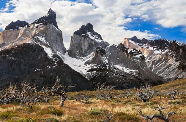 The peaks of Cuernos del Paine, Torres del Paine, Chile