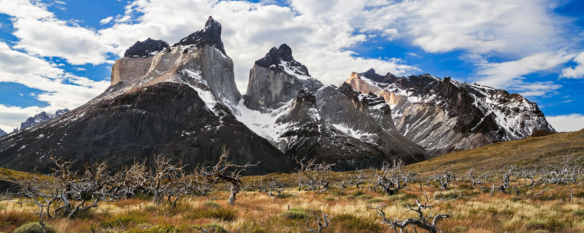 The peaks of Cuernos del Paine, Torres del Paine, Chile