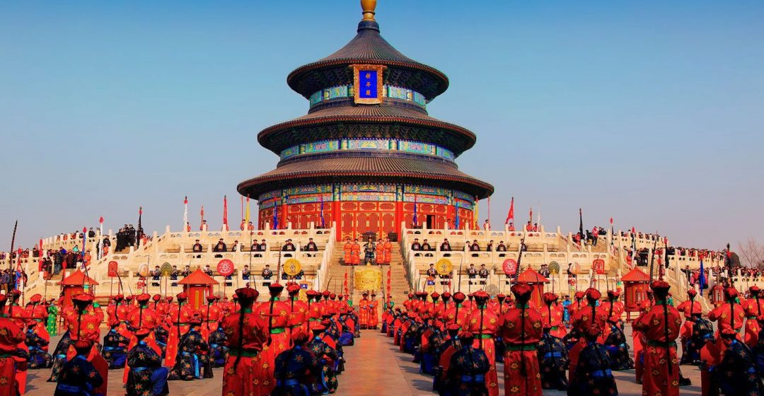 Ancient ritual ceremony during Spring Festival at the Temple of Heaven in Beijing, China