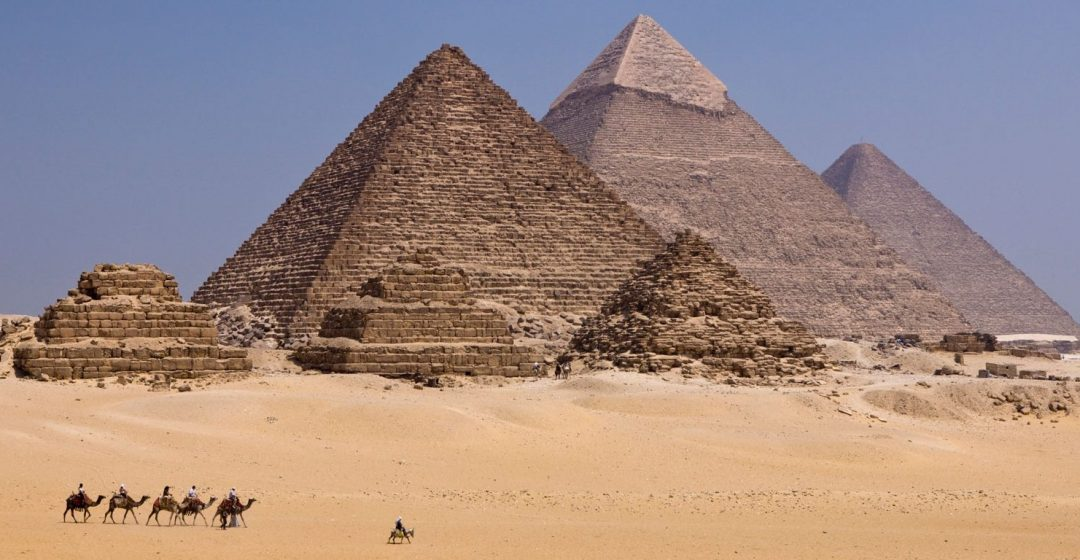 Pyramids of Giza near Cairo, Egypt