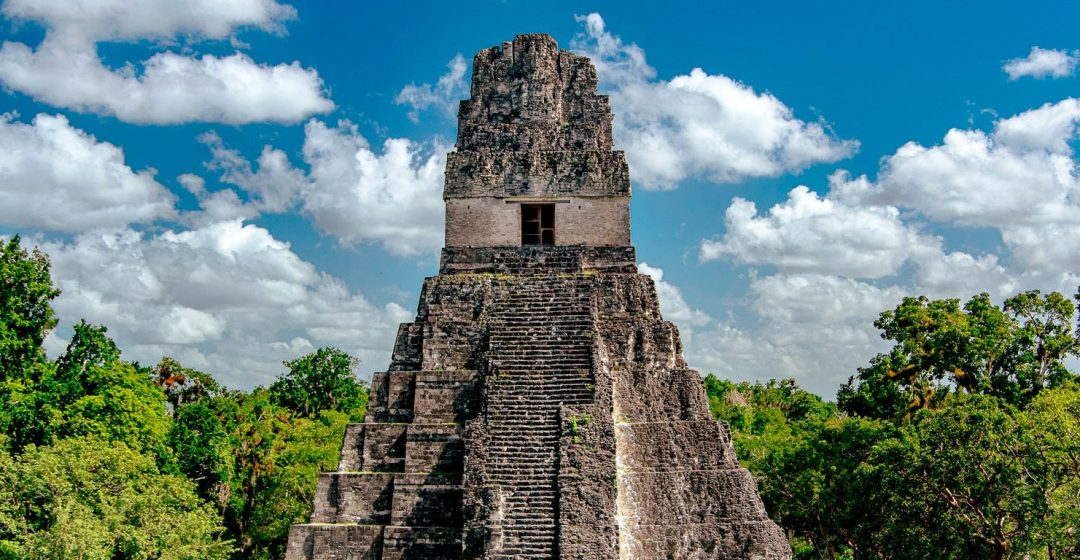 The Mayan ruins of Tikal, A UNESCO World Heritage Site, in El Petén, Guatemala