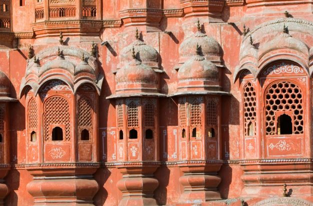 Exterior of the Hawa Mahal in Jaipur, India