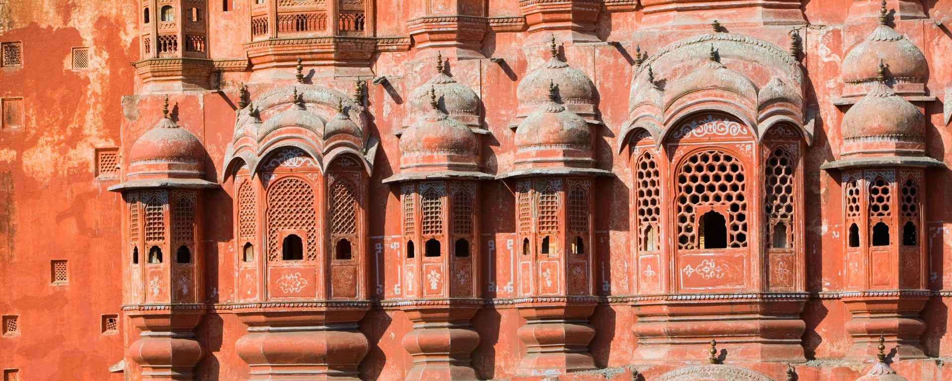 Exterior of the Hawa Mahal in Jaipur, India