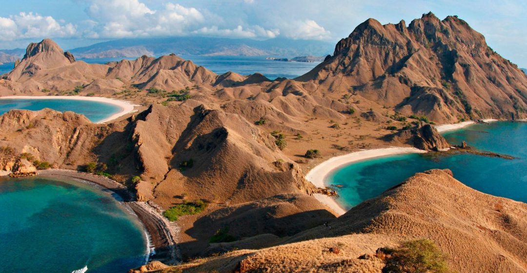 View from atop Padar Island in Komodo National Park, Indonesia