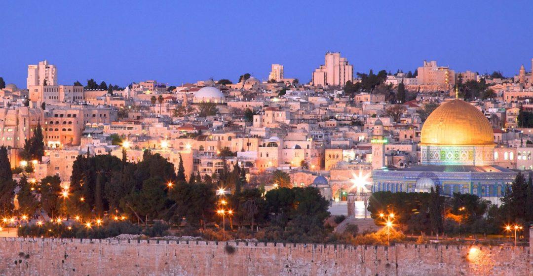 View of Jerusalem's Old City from the Mount Of Olives, Jerusalem, Israel