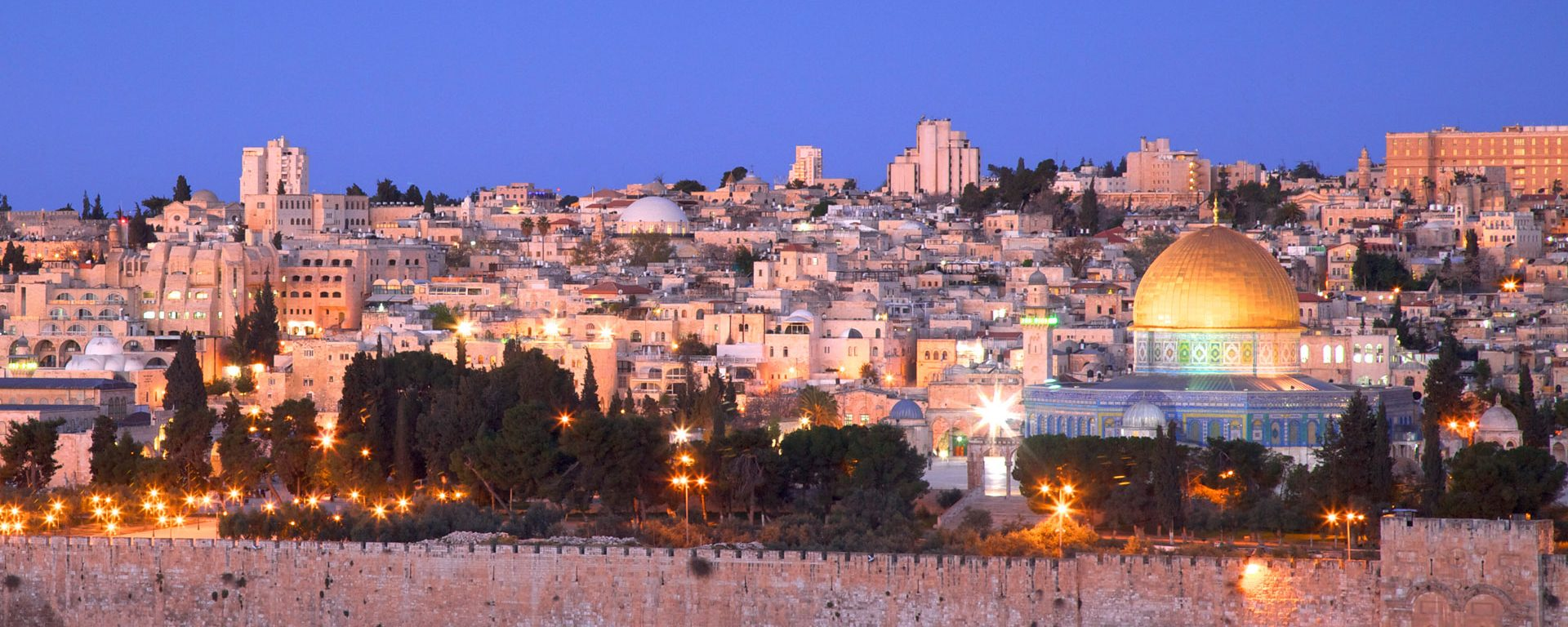View of Jerusalem's Old City from the Mount Of Olives, Jerusalem, Israel