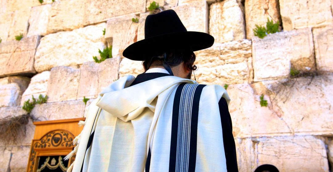 Worshippers At The Western Wall, Jerusalem, Israel