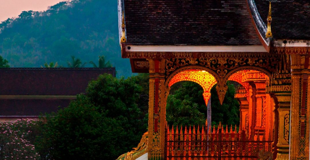Entrance to Royal Temple in the Royal Palace complex, Luang Prabang, Laos