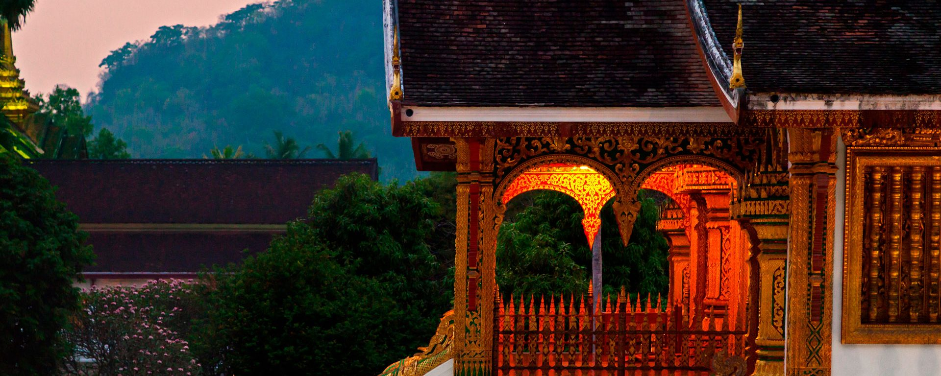 Entrance to Royal Temple in the Royal Palace complex, Luang Prabang, Laos