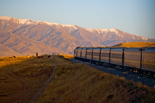 Luxury train on the Silk Road from Bejing to Moscow.