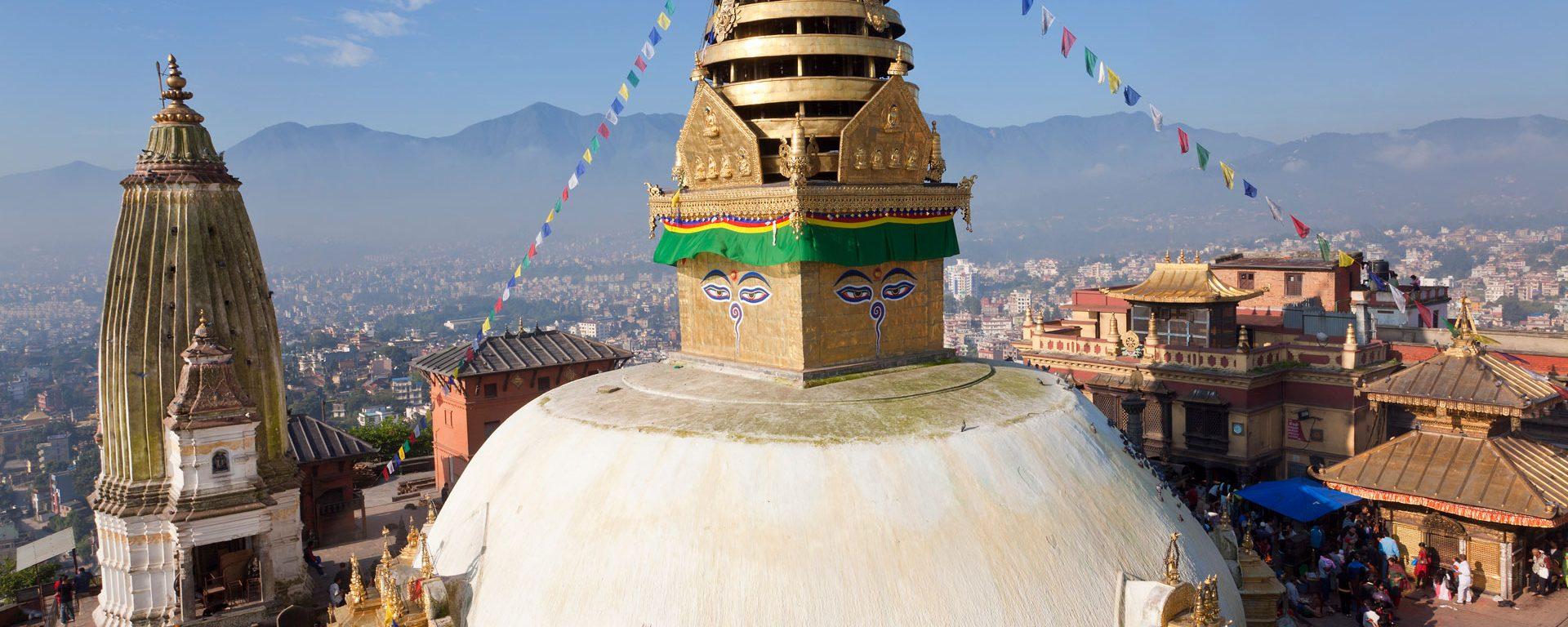 Swayambhunath Buddhist Stupa or Monkey Temple, Kathmandu, Nepal