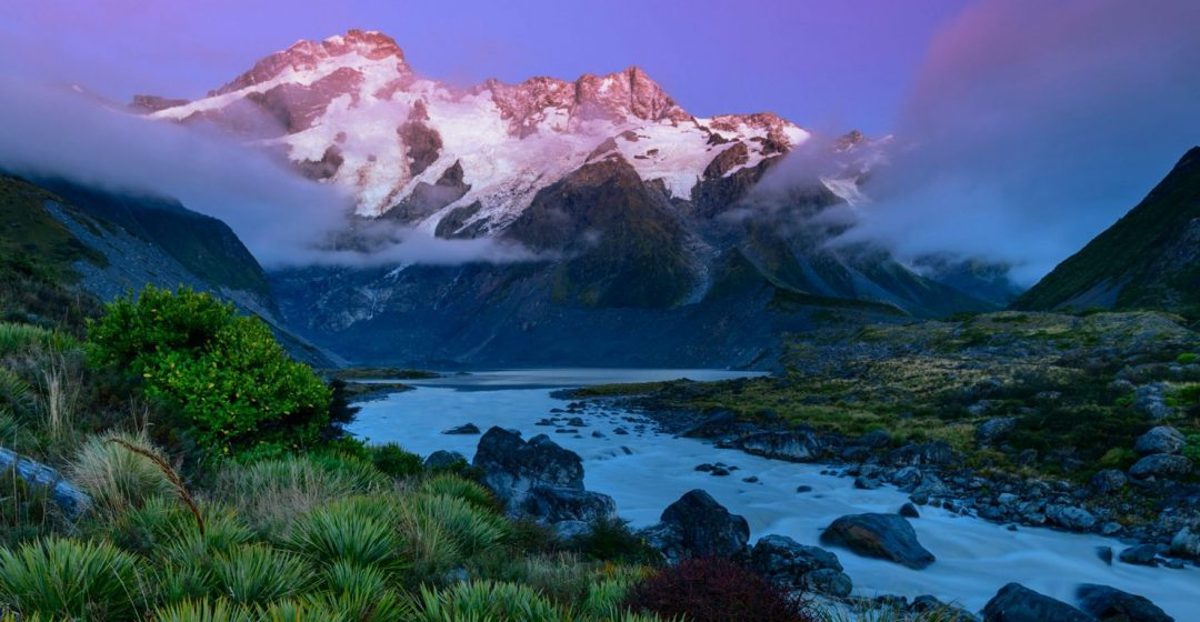 Mount Sefton in Mount Cook National Park, South Island, New Zealand