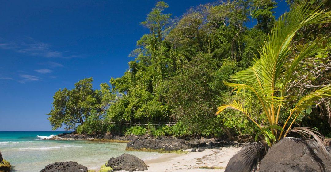 Red Frog Beach on Bastimentos Island near Bocas del Toro, Panama
