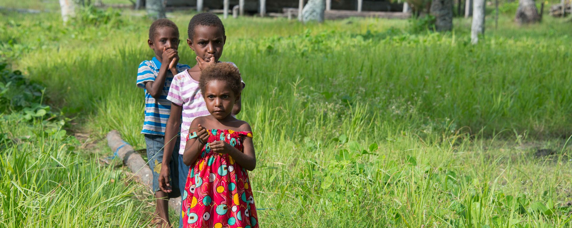 Village children in Papua New Guinea's Sepik River area