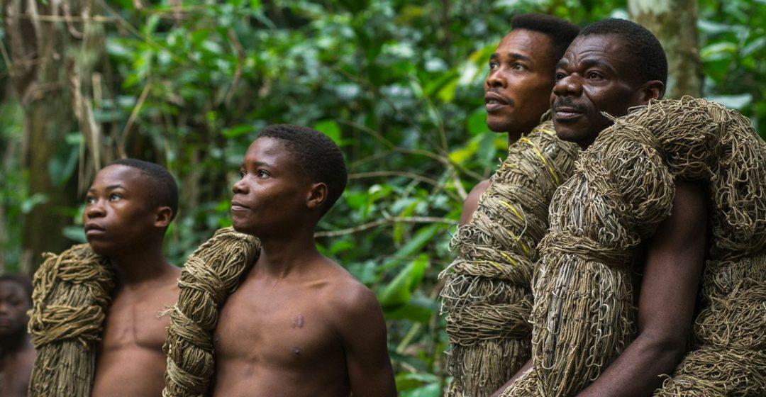 Ba'Kola pygmy with hunting nets in Odzala-Kokoua National Park, Congo