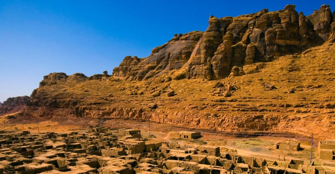 Saudi Arabia, Al-Ula, view of the old town, now abandoned