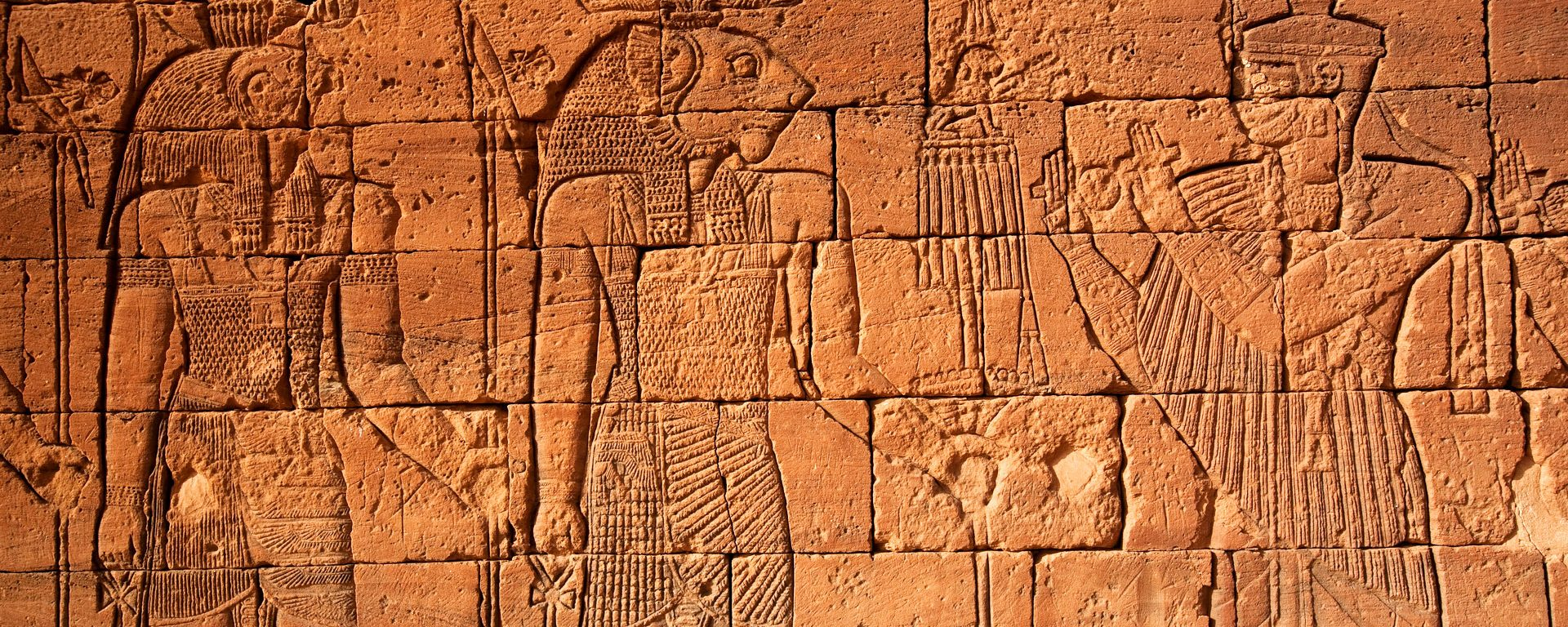 Hieroglyphics on the Lion Temple at Nagaa, Sudan