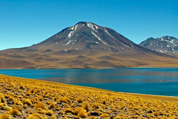 Laguna Miscanti and Cerro Miscanti, Atacama Desert, Chile