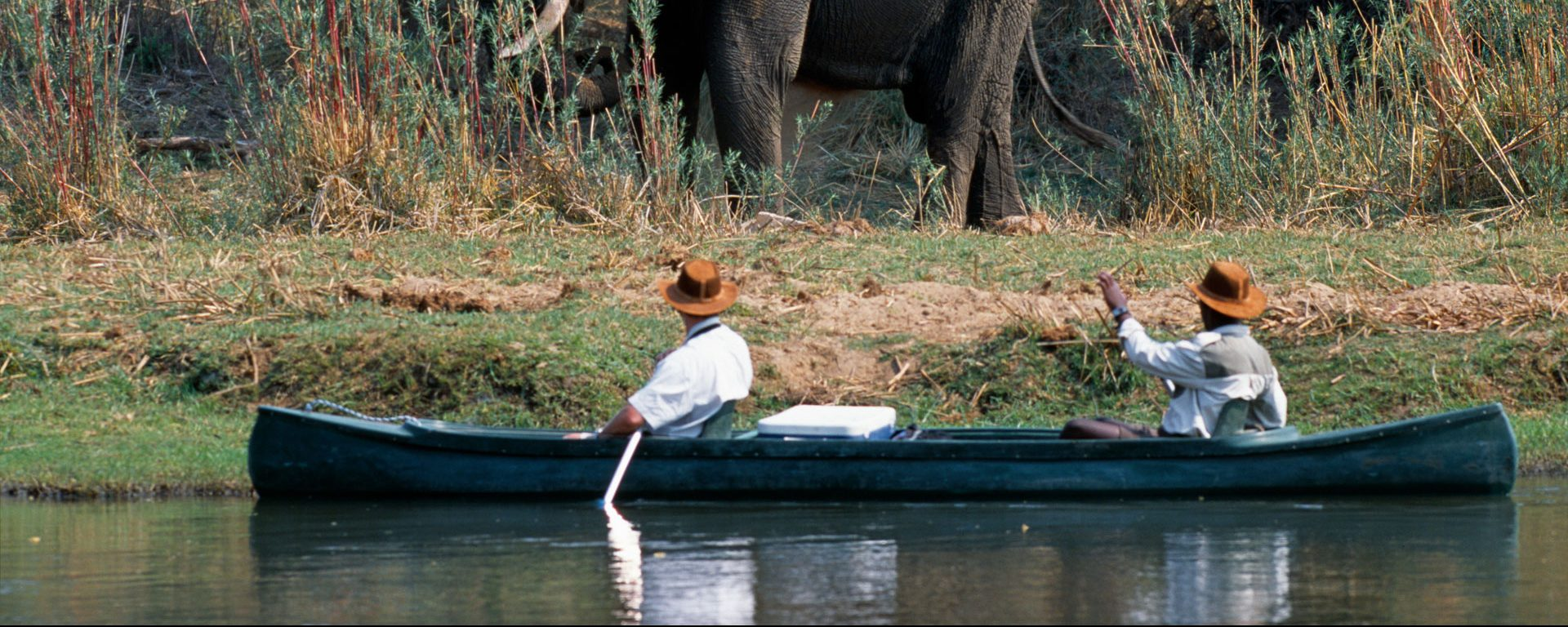 Canoe safari along the Chifungulu Channel, Zambia