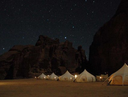 Warda Camp on the Ennedi Massif in the Sahara Desert offers amazing stargazing, Chad.