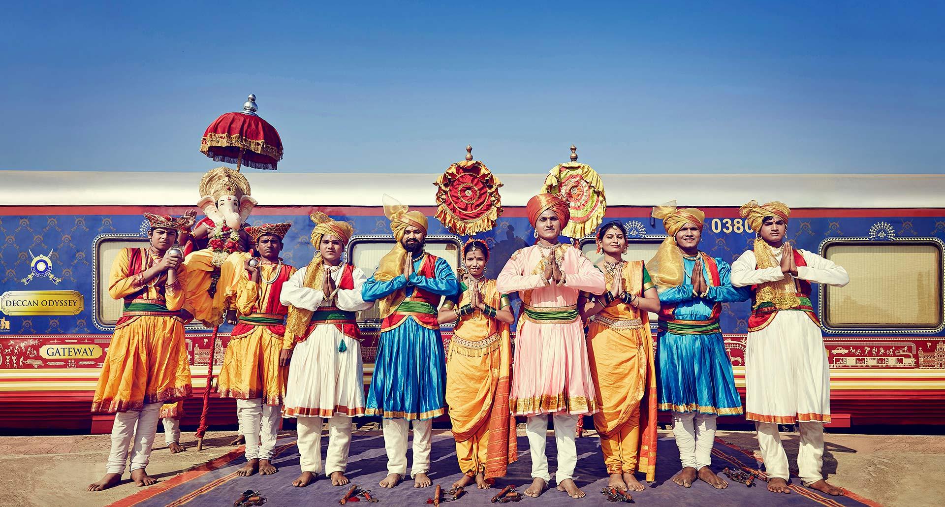 Deccan Odyssey train welcome crew in India