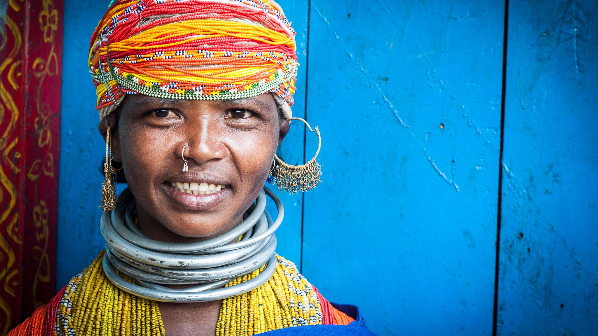 Tribeswoman in Odisha, India with GeoEx