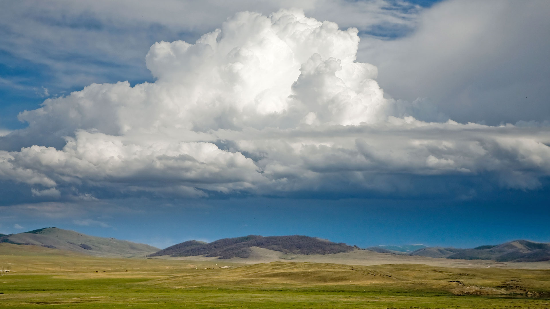 Clouds over Jargalant Mountain in western Mongolia