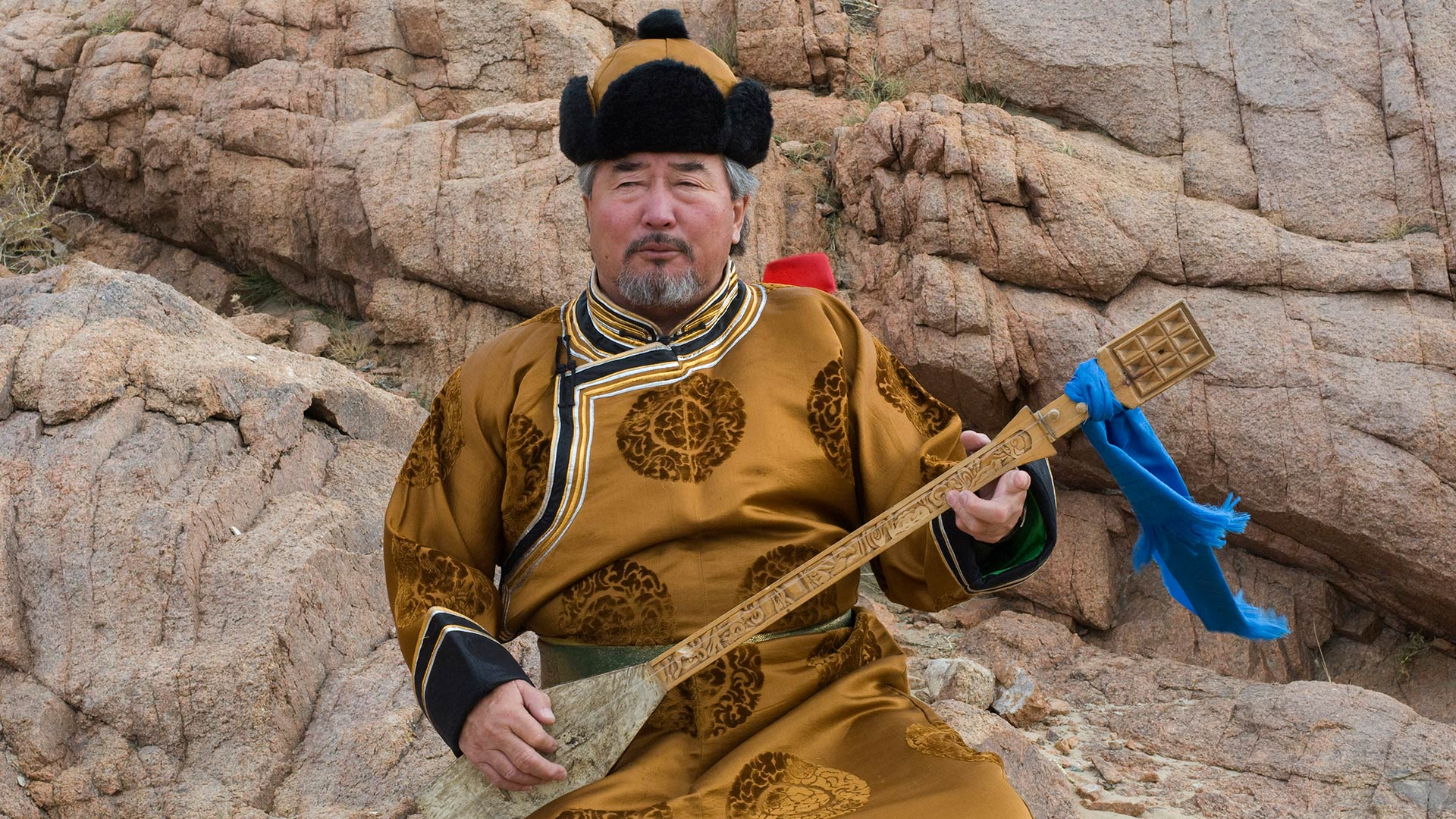 Throat singer in Khovd Province, Mongolia