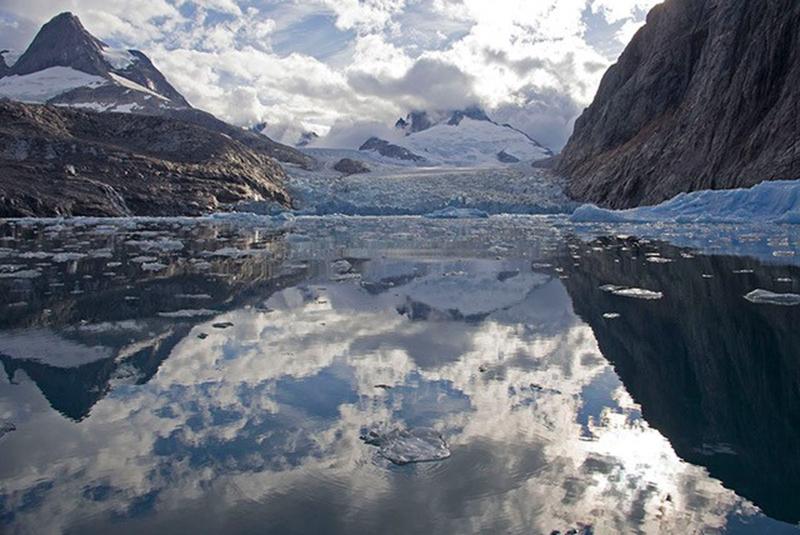 Glaciers in Greenland.