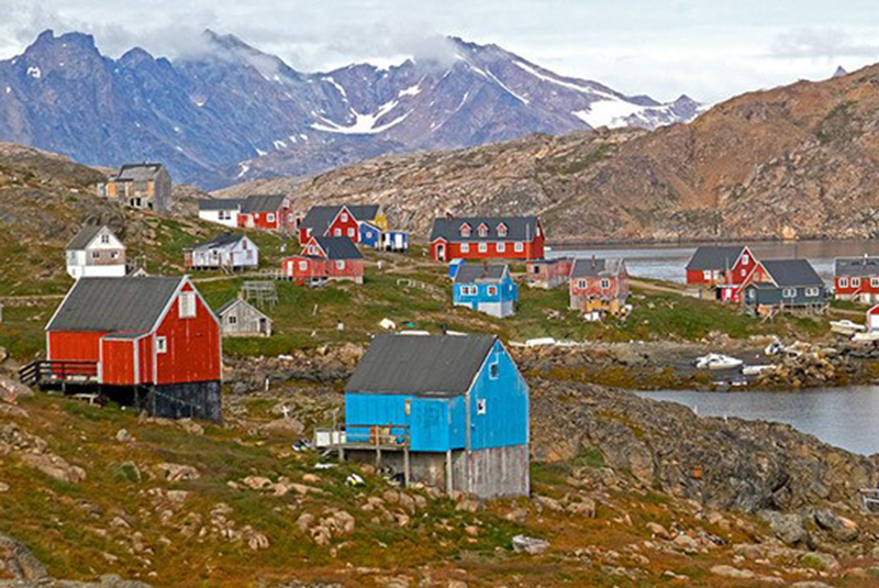 Greenland houses.