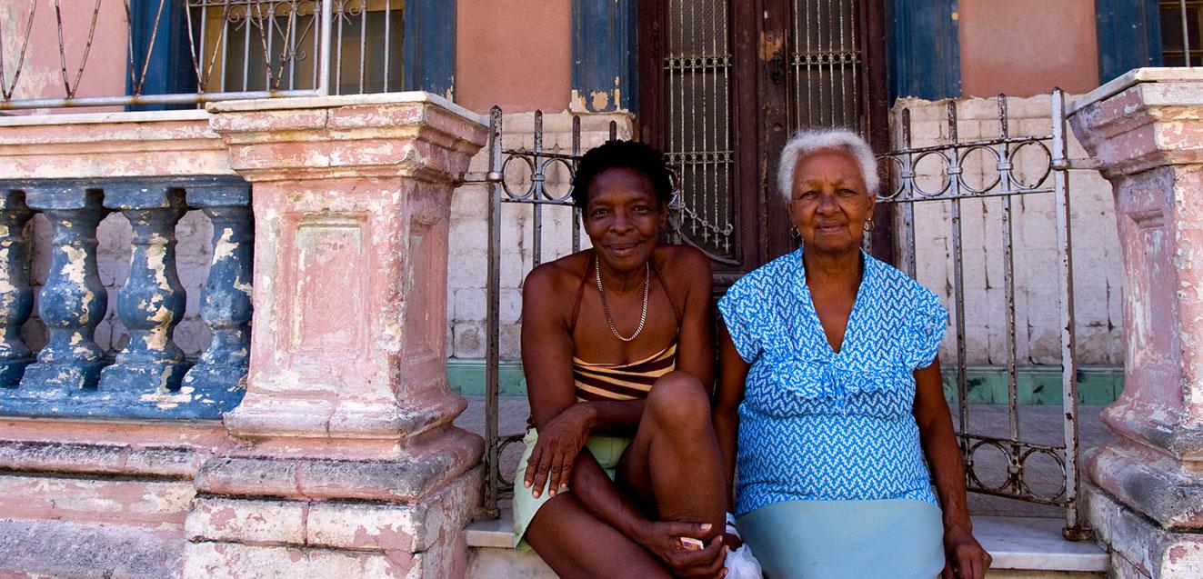 Local women in the Lawton neighborhood of Havana, Cuba