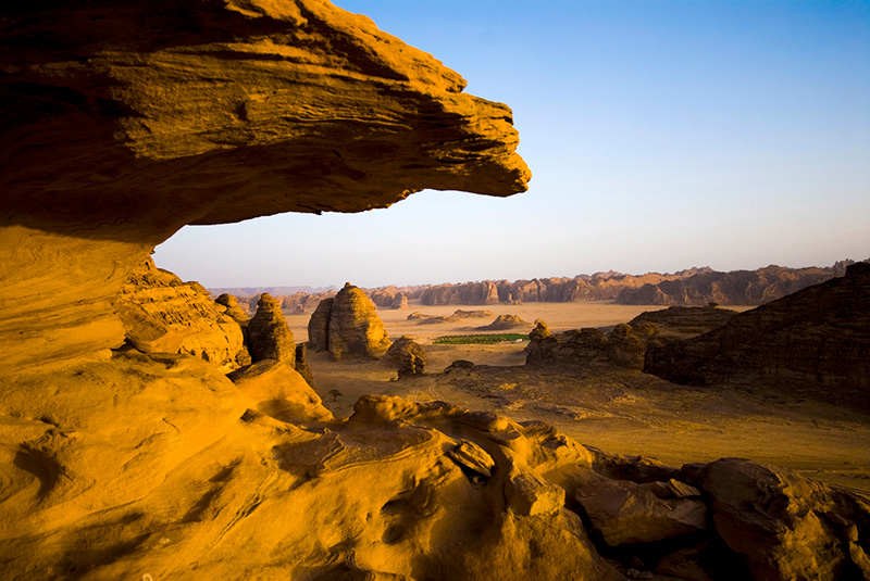 Rock formations in Al Ula Desert, Saudi Arabia