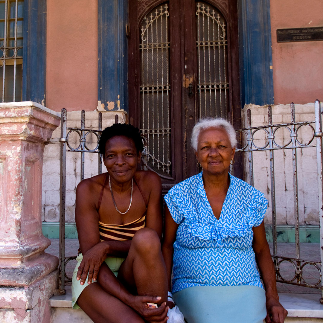 Local women in the Lawton neighborhood of Havana, Cuba